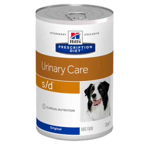 Хиллс (Hill's) prescription diet S/D canine urinary-dissolution canned консервы для собак профилактика и лечение мкб струвиты 370 г