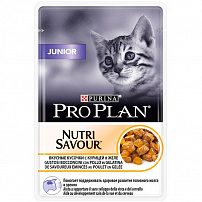 Про План (Purina Pro Plan) junior kitten with chicken in jelly для для котят курица в желе 85 г